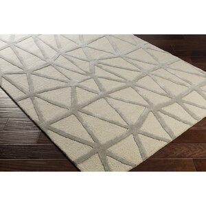 Blandon Hand-Tufted Neutral/Gray Area Rug