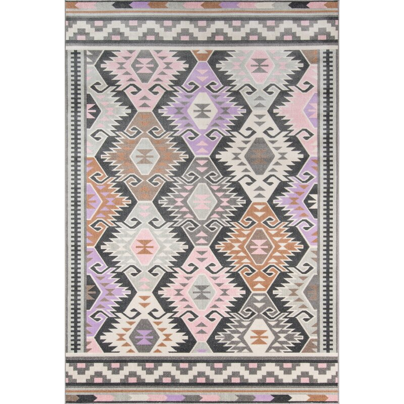 Boho Holiday Indoor/Outdoor Pink/Lilac Area Rug & Reviews