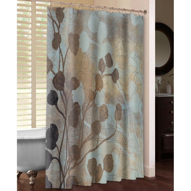 Spa Blue And Gold Shower Curtain
