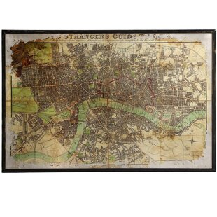 Eli Large Antique Map Framed Wall Art