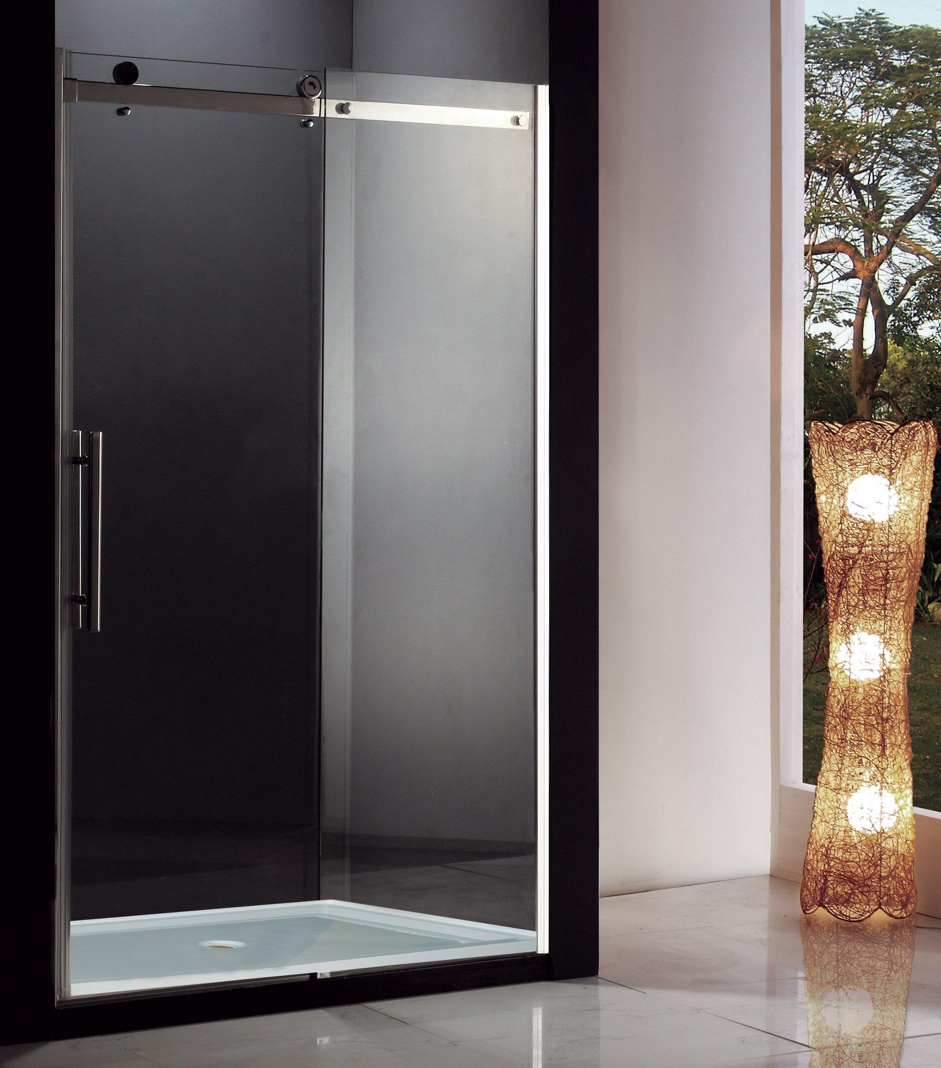 Jade Bath Eva I 60 X 7875 Single Sliding Semi Frameless Shower