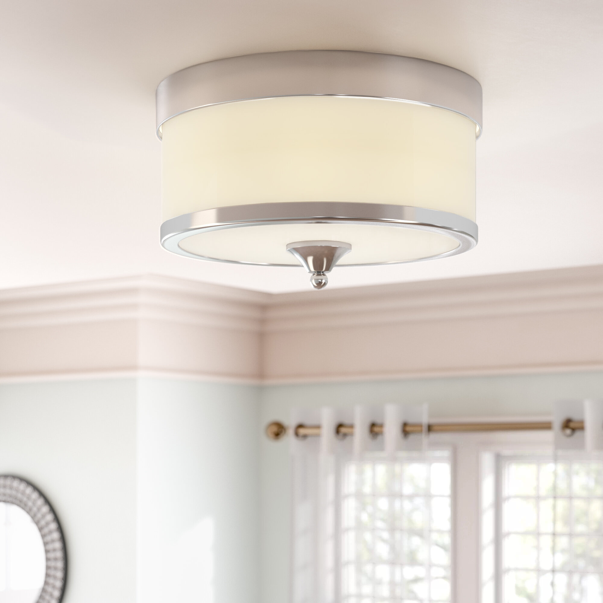 Willa arlo interiors carlitos 3 light flush mount reviews wayfair