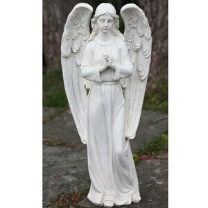 Standing Praying Angel Religious Outdoor Decorative Garden Statue