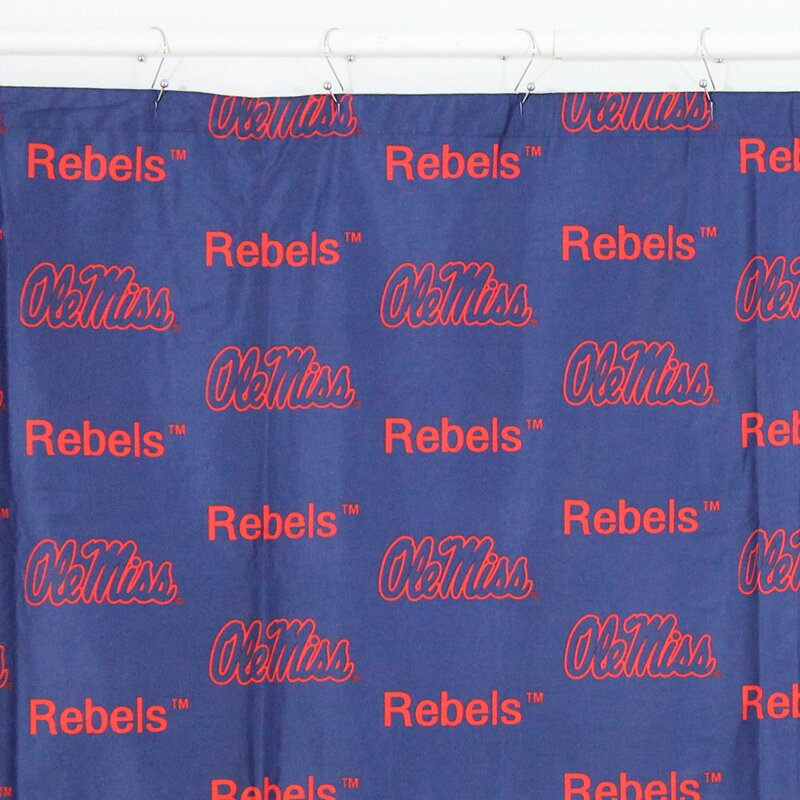 NCAA Ole Miss Printed Shower Curtain