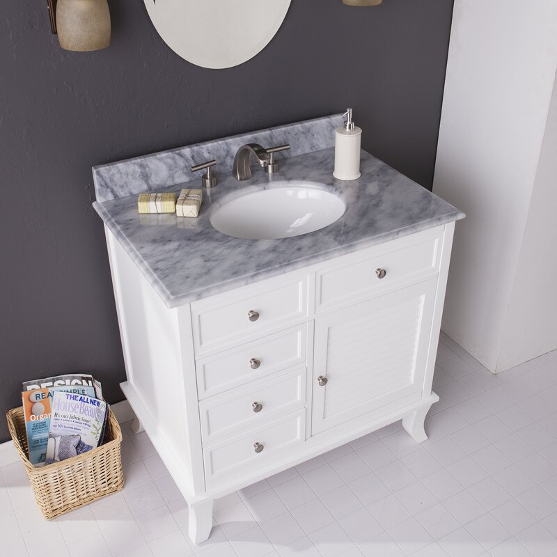Vanity Counter Set : Doris single bathroom vanity set with marble counter top