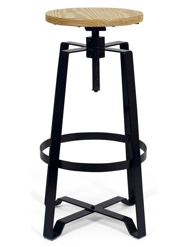 Admirable Halie Adjustable Height Round Swivel Bar Stool Alphanode Cool Chair Designs And Ideas Alphanodeonline