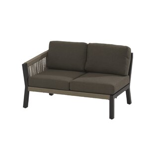 Caitlyn Garden Loveseat Right Arm Sectional Piece with Cushions by Lynton Garden