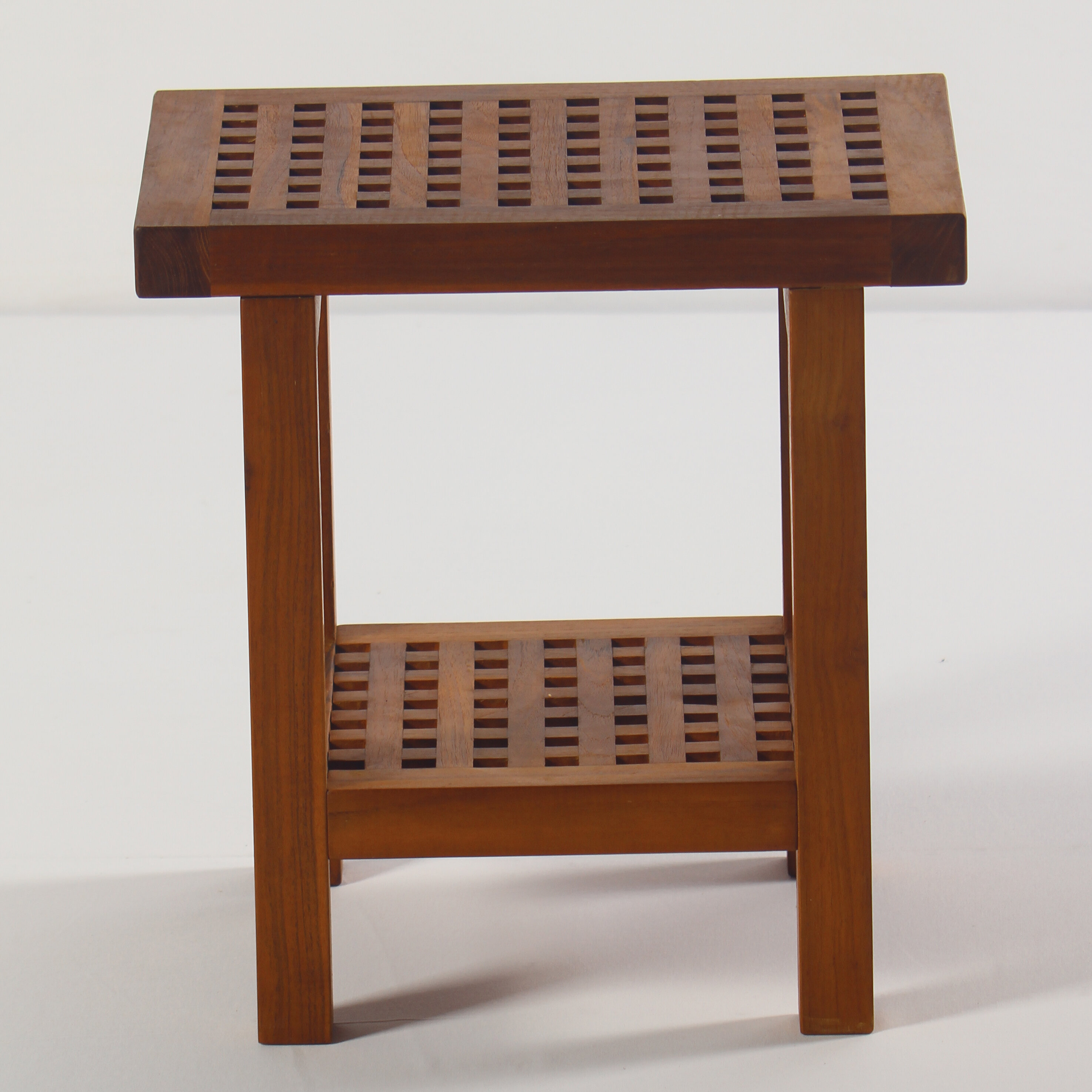 Symple Stuff Solid Teak Wood Shower Seat & Reviews | Wayfair