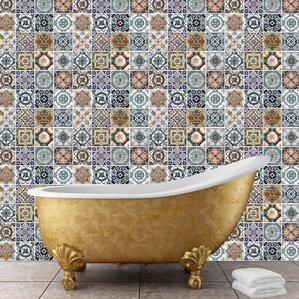 Flexiplus Mediterranean Tiles Wall Decal (Set Of 4)