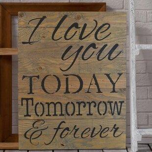 Wooden Love Signs Wayfair