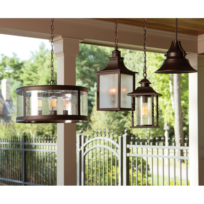 Birch Lane™ Barrow 1- Light Outdoor Hanging Lantern & Reviews ...