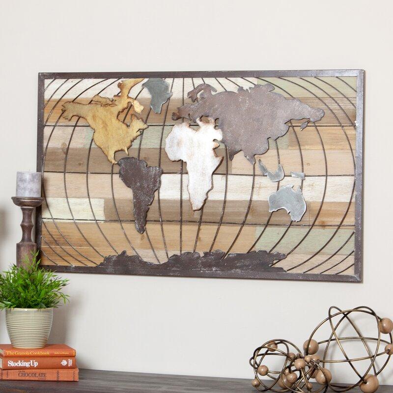 Aspire Marco World Map Wall Decor Reviews Wayfair