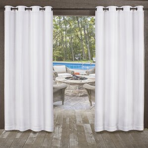 Malaya Solid Room Darkening Outdoor Grommet Curtain Panels (Set Of 2)