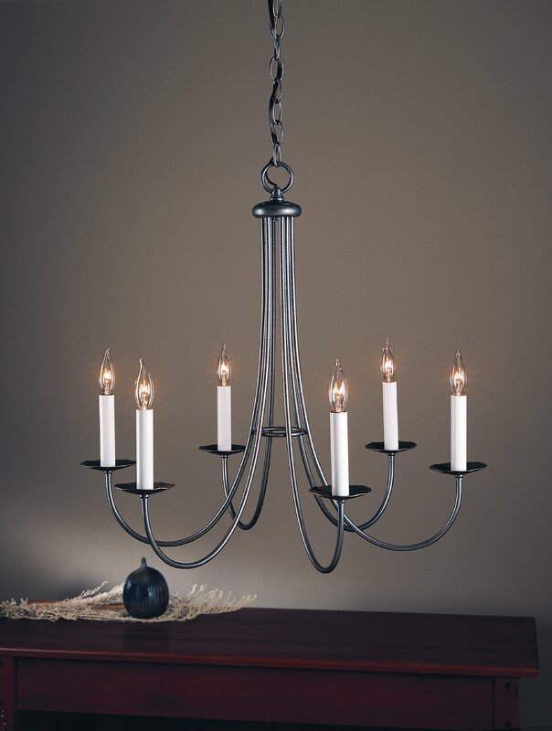 Hubbardton Forge Simple Sweep 6 Light Candle Style