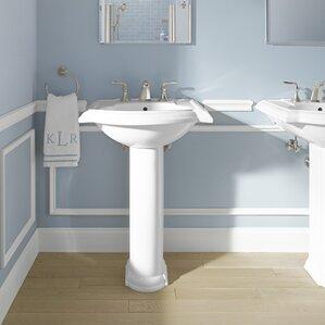 Pedestal Sinks Youll Love - Bathroom pedestal sinks