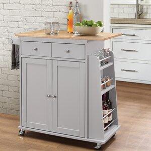 Brecht Contemporary Kitchen Cart