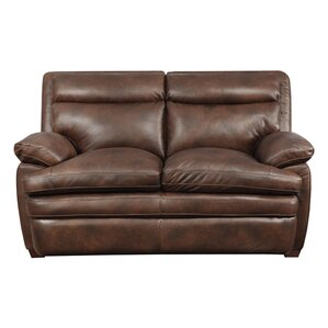 Clarkston Leather Reclining Loveseat b..