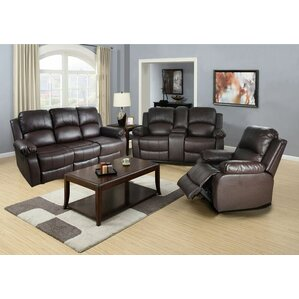 Lucius 3 Piece Living Room Set by Beverly Fi..