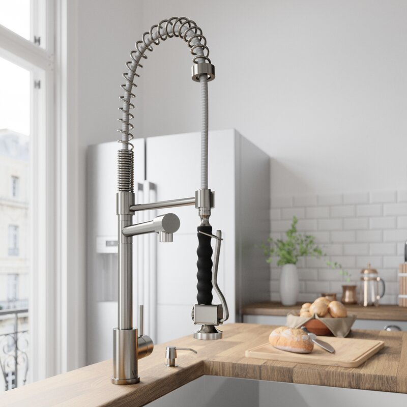Vigo Zurich Pull Down Single Handle Kitchen Faucet