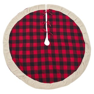 Buffalo Plaid Sherpa Tree Skirt