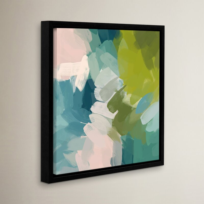 Calm Colours I Framed Painting Print On Wrapped Canvas