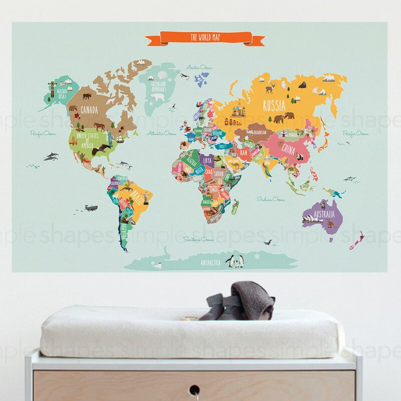Countries Of The World Map Poster Wall Decal Part 50