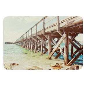 On The Pier by Debbra Obertanec Bath Mat