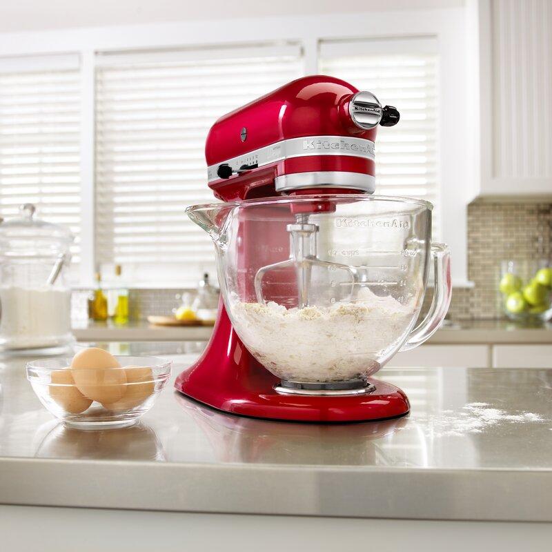 Kitchenaid Artisan Design Series 5 Qt Stand Mixer kitchenaid artisan design series 5 qt. stand mixer with glass bowl
