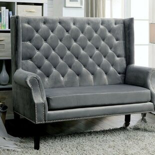 Witherell Settee With Wingback Design
