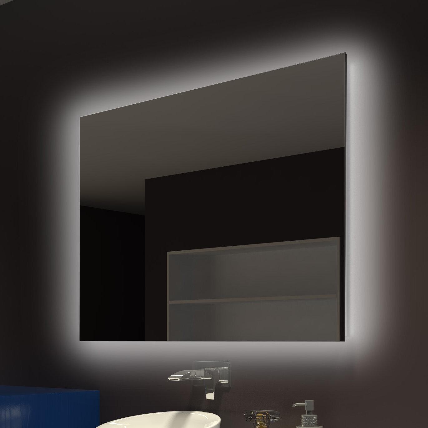 Everly quinn moumoune backlit bathroom vanity mirror reviews wayfair