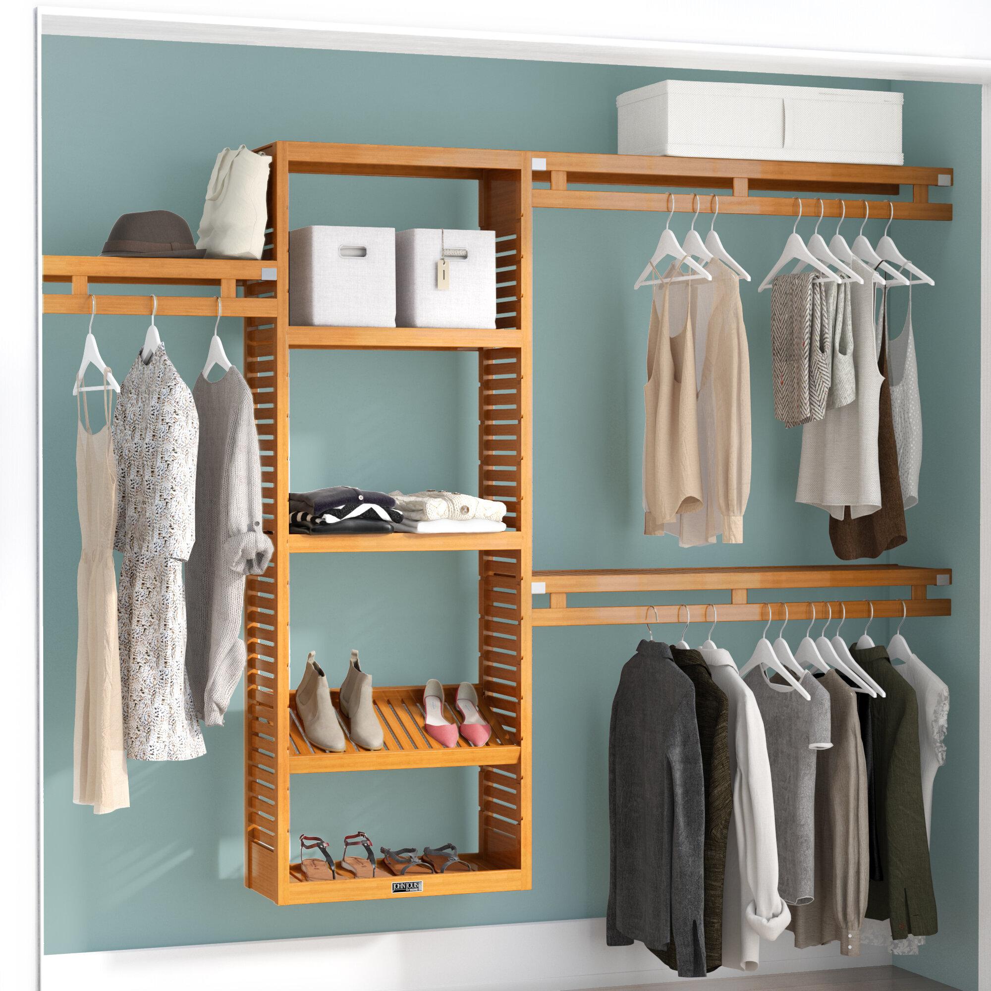 John Louis Home 12 W Deep Solid Wood Simplicity Closet System Reviews Wayfair