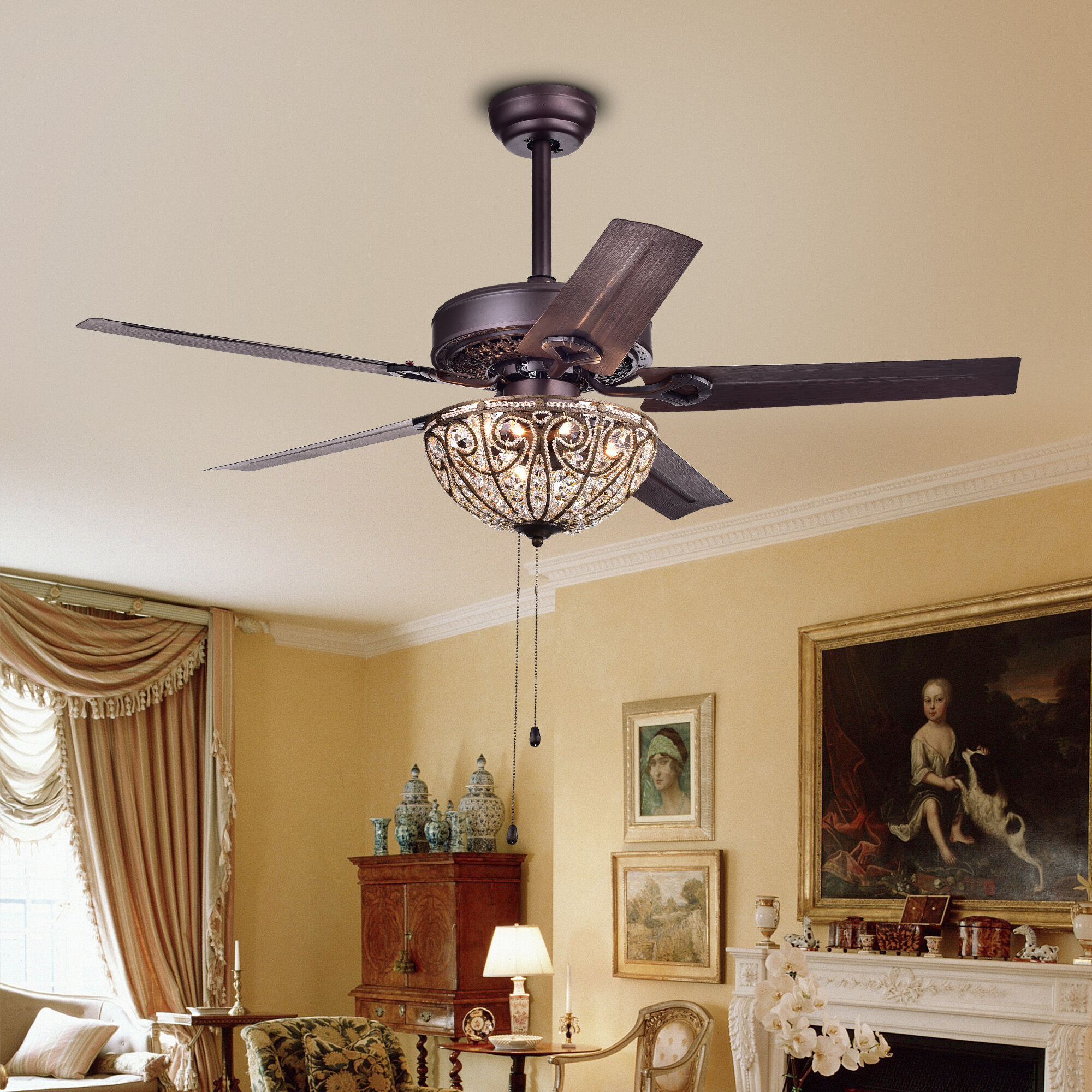 Astoria Grand 48 5 Blade Ceiling Fan Light Kit Included Reviews Wayfair