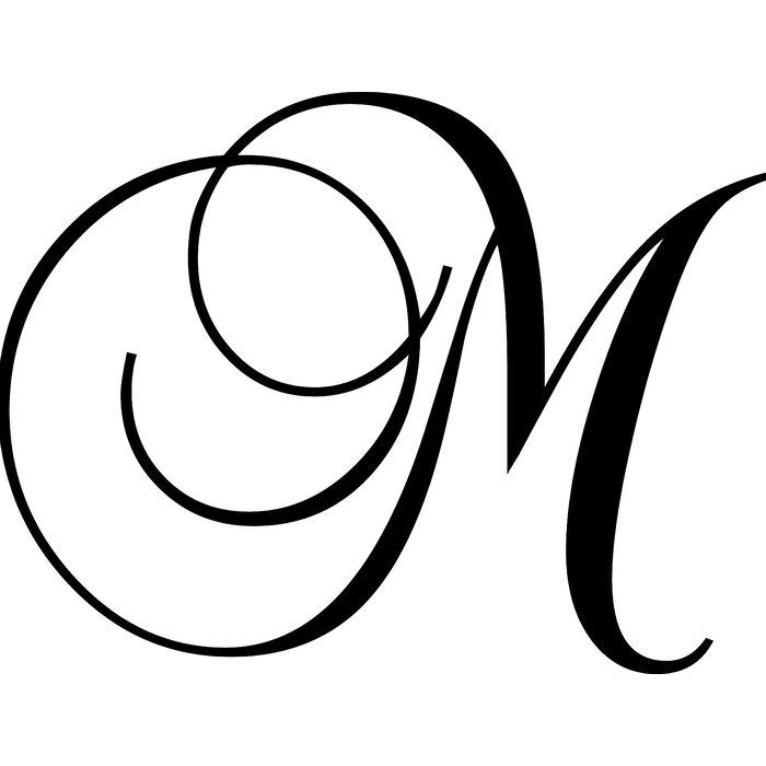Enchantingly Elegant Letter M Wall Decal Reviews Wayfair Ca