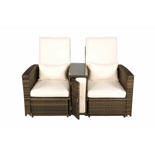 Harker Rattan Double Sun Lounger With Cushion