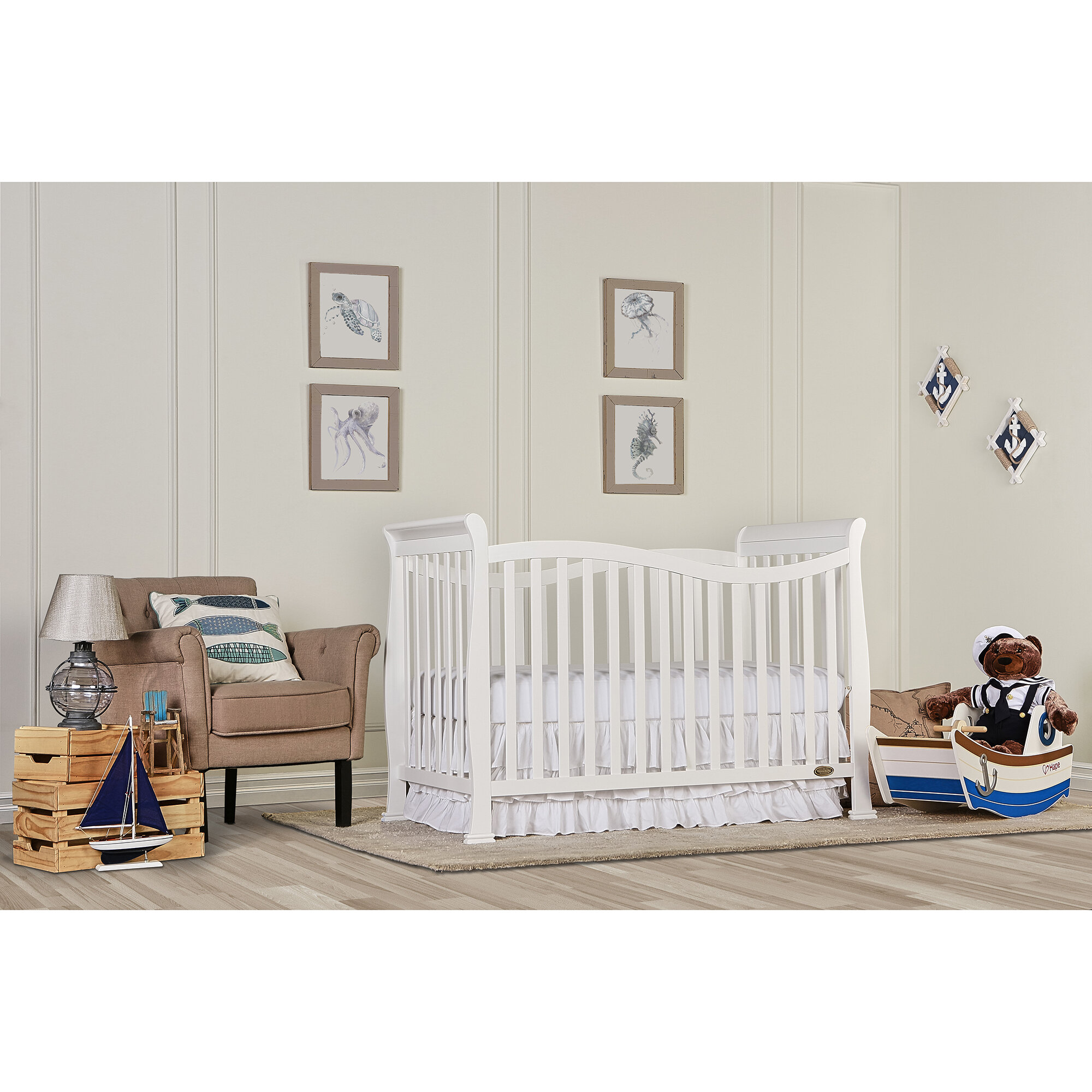 pin crib bed white chloe on dream into with changer turns wood me convertible in