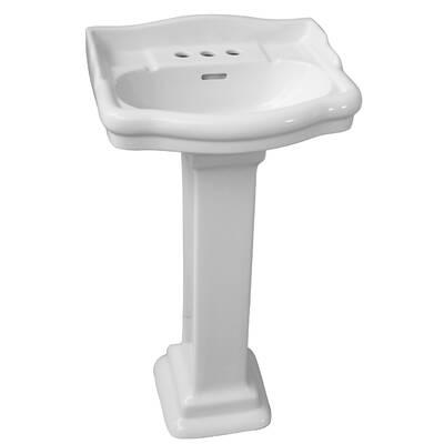 Barclay Washington 550 Vitreous China Pedestal Bathroom Sink With