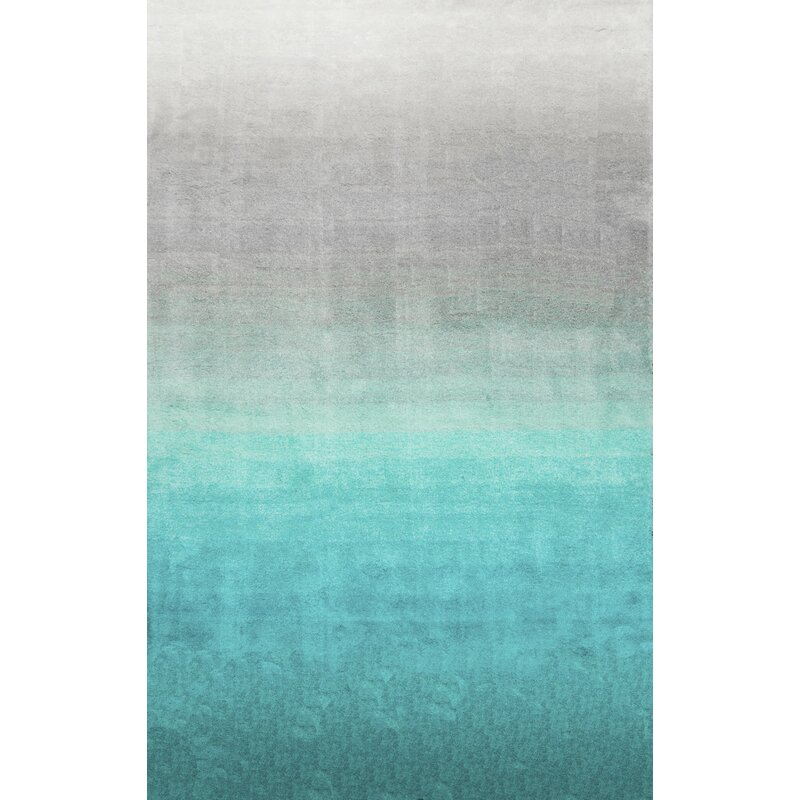Turquoise Kitchen Rugs New Rug In The: Bierman Hand-Tufted Turquoise/Gray Area Rug & Reviews