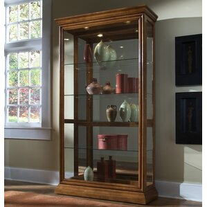 Nancy Lighted Curio Cabinet by Darby Home..