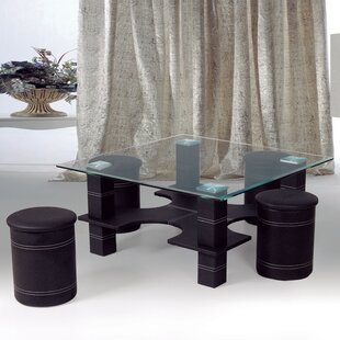 Coffee Table With 4 Nested Stools