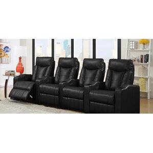 Home Theater Leather Recliner (Row of 4) by ..