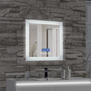 Bathroom Mirrors Lit From Behind mirrors with lights you'll love | wayfair