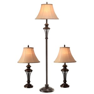 Macmillan 3 Piece Table And Floor Lamp Set
