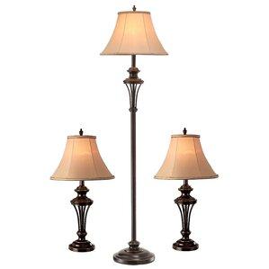 Macmillan 3 Piece Table And Floor Lamp Set