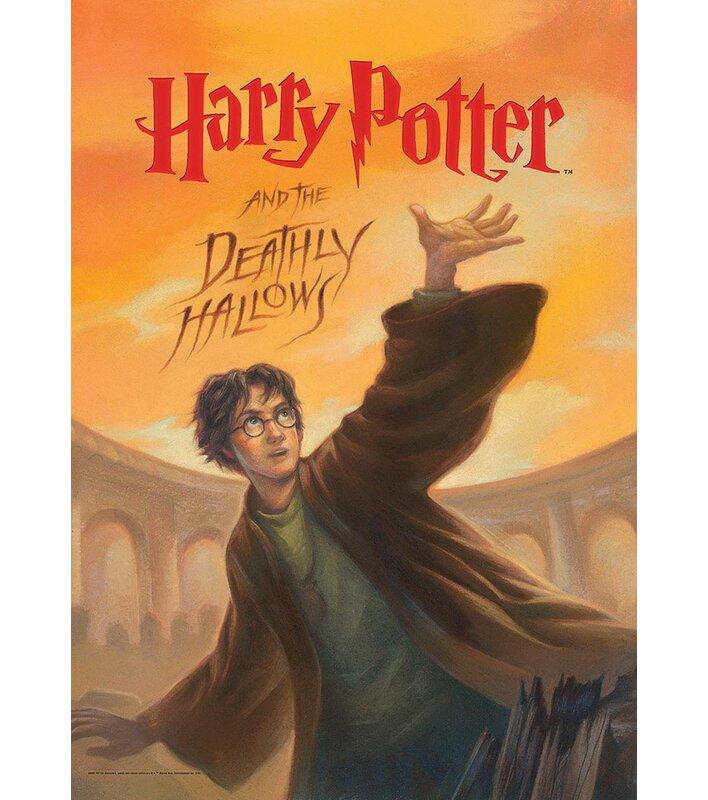 image about Harry Potter Book Covers Printable known as Harry Potter Reserve Address - Deathly Hallows Impression Artwork Print