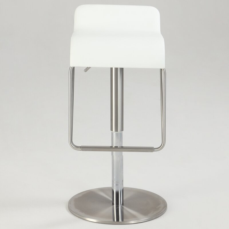 Orren Ellis Brace Adjustable Height Swivel Bar Stool