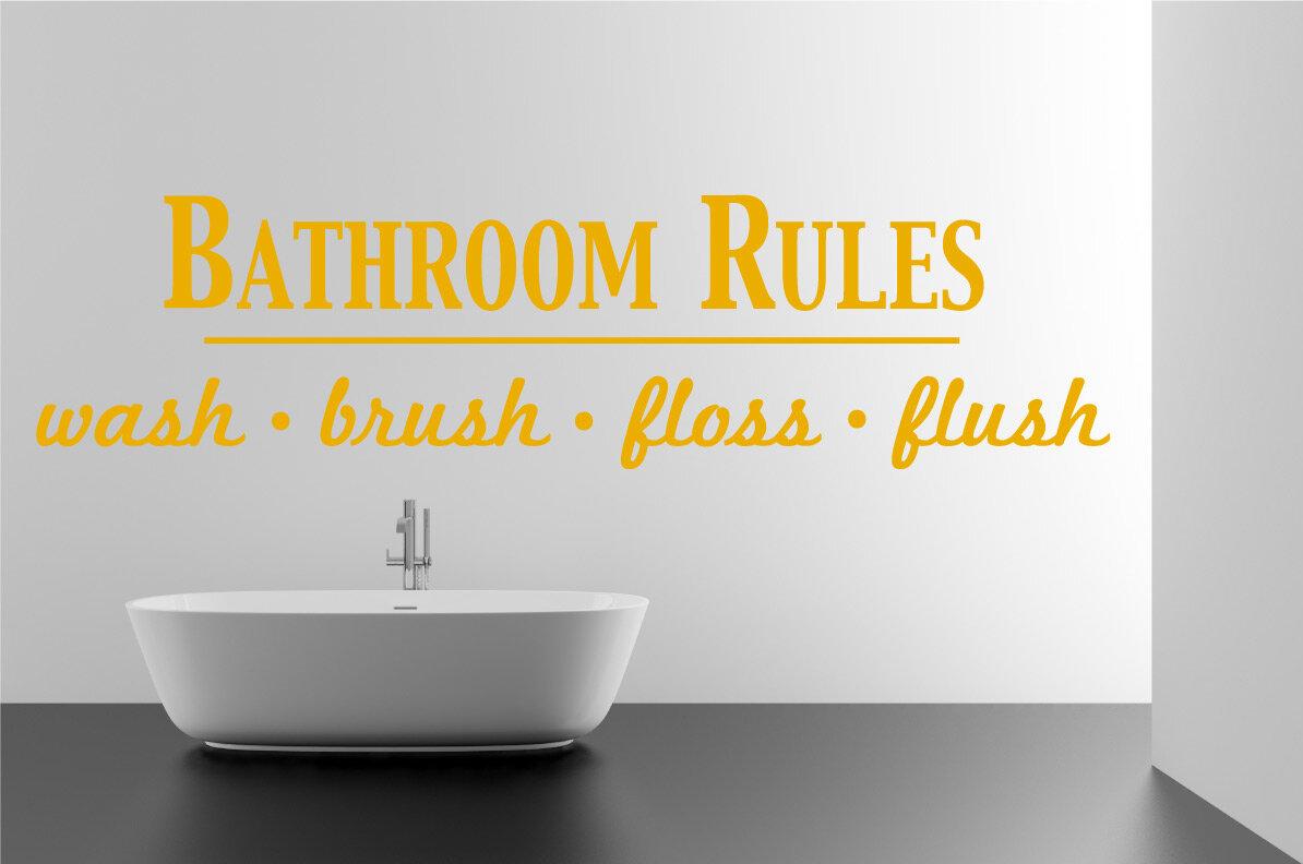 Luxury Bathroom Rules Canvas Wall Art Inspiration - Wall Art ...