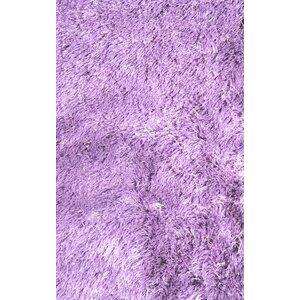 Silky Shag Lavender Indoor Area Rug
