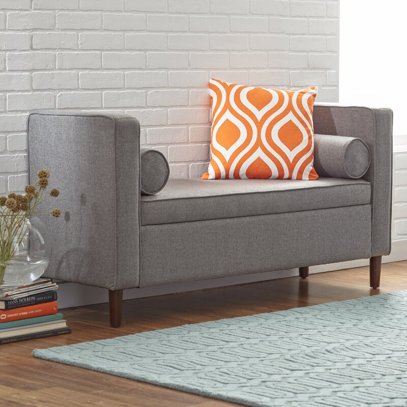 Mercury Row Upholstered Storage Bench & Reviews | Wayfair