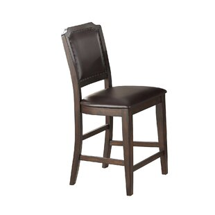 Gustafson Cushioned Upholstered 26 Bar Stool (Set Of 2) Read Reviews