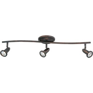 Bruhn 3-Light Metal Shade Flush Mount